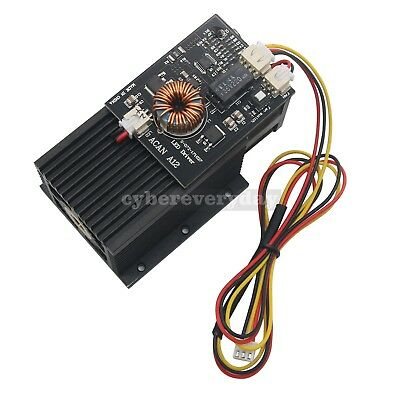 450nm 445nm 15w 15Kmw HP Blue Laser Diode Module Engraving Wood Metal +TTL board