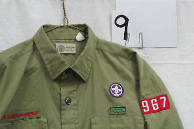 1960s Vintage BOY SCOUT UNIFORM, Long Slv., X-Large Neck 16, Sq. Knot  #09