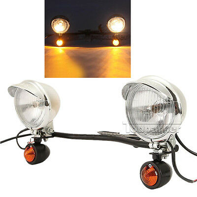 Passing turn signal spot light bar for harley davidson xl sportster passing fog light bar turn signal for harley davidson softail fat boy flstf new audiocablefo