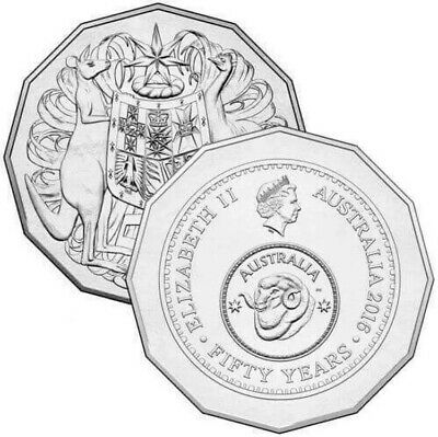 2016 Australian 50 Cent Coin - Australia Fifty 50 Years Of Decimal Currency Ram