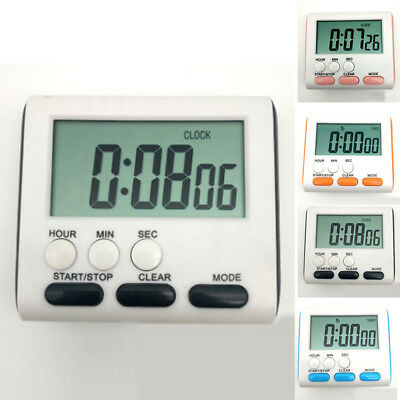 Magnetic LCD Digital Kitchen Cooking Timer Count-Down Clock Loud Alarm 24 Hours