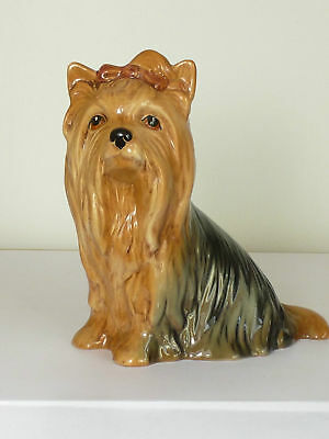 Cute Sylvac Yorkshire Terrier Dog Figurine English Pottery No 5027