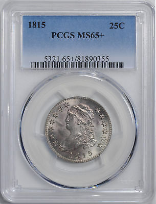 1815 Capped Bust 25C Pcgs Ms 65+