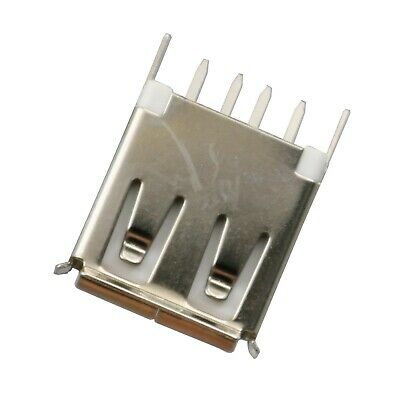 10Pcs USB Type A 4Pin Straight Female Socket PCB DIP Solder Connector New