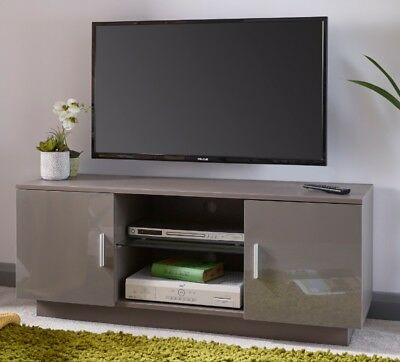 Modern TV Cabinet High Gloss Grey Television Stand Suitable for 55 Inch Lima