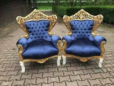 Antique  Two Chairs In Rococo Style.