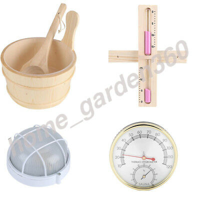 Wooden 140º C Sauna Thermometer 15 Minutes Sand Timer Clock Hourglass Bathroom