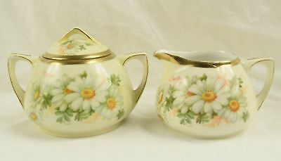 Antique Royal Austria O & EG George Martin Handpainted Sugar & Creamer