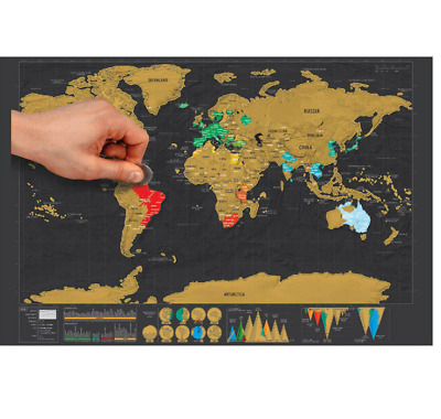 Deluxe off capitals world map poster journal log giant map of the deluxe off world map poster journal log giant map of the world gift gumiabroncs Gallery