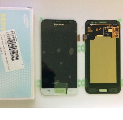 Display Lcd + Touch Screen Originale Samsung Galaxy J3 2016 Sm-J320Fn Bianco Kit