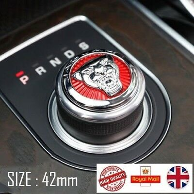 For JAGUAR GROWLER GEAR ROTARY BADGE  METAL 42mm XJ XF XE XK F-PACE