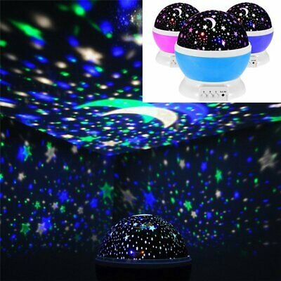 romantic rotating led starry sky star projector lamp galaxy cosmos light night - Star Projector Lamp