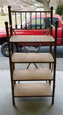 Vintage, Antique Bamboo open bookcase