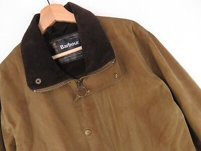 KD1983 BARBOUR JACKET COAT NEWHAMPSHIRE WAXED COTTON MADE IN ENGLAND VTG size M