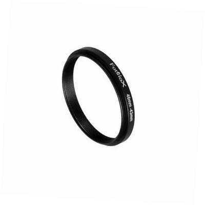 metal step down ring filter adapter, anodized black aluminum 46mm-43mm, 46-43