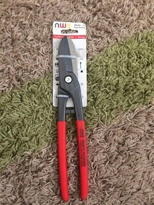 "NWS Gilbow Tin Snips 078-12-300-SB 12"" Straight Cut Aviation Pliers"