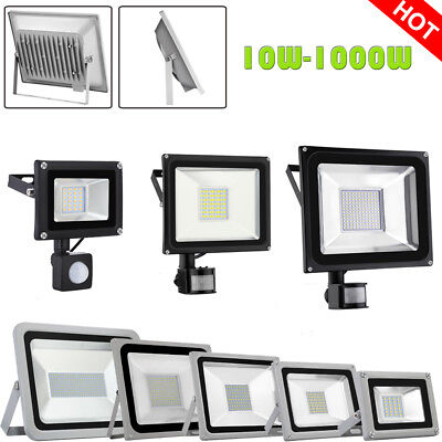 LED Floodlight 10W 30W 50W 100W 200W 300W 500W 1000W PIR Sensor Security Light