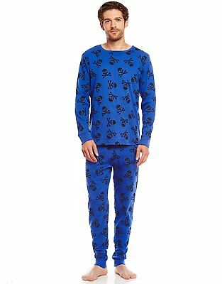 Leveret Men's Skull Fitted Pajama Set Top & Pants 100% Cotton (Size XS-XL)