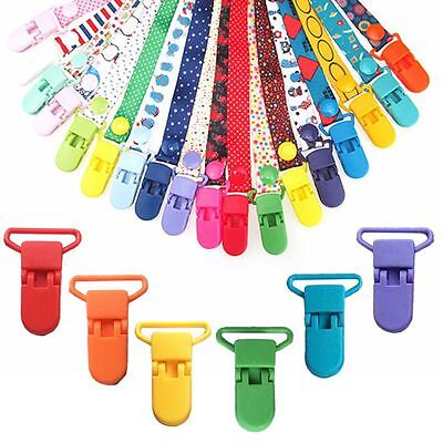10Pcs Plastic Suspender Soother Pacifier Holder Dummy Clips Set For Babies