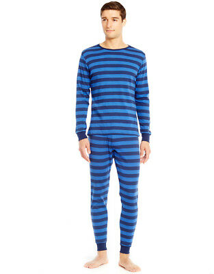 4c26ced923 Leveret Men s Blue   Navy Striped Fitted Pajama Set 100% Cotton (Size ...