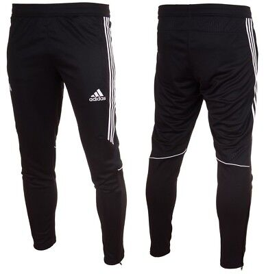 Adidas Slim Fit Tango Tapered Mens Training Tracksuit Zip Bottoms Pants Sports
