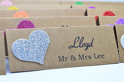 20x PERSONALISED TABLE NAME PLACE CARDS WEDDING BIRTHDAY RUSTIC VINTAGE HANDMADE