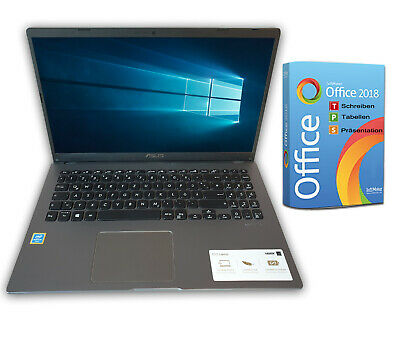 ASUS Notebook 17 Zoll HD+ Quad Core 4 x 2,7GHz 4GB 500GB Win10 Office 2018