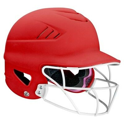 Worth 60 MPH Highlighter Fastpitch Batter's Helmet With Mask
