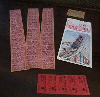 Roseland Park ~ Canandaigua, Ny ~1980'S Skee Ball Card, Flyer, 50 Unused Tickets