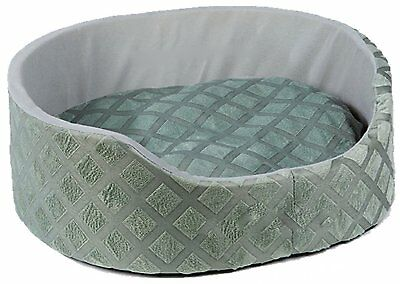 Soft Warm Round Dog Cat Puppy Kitten Pet Bed Basket Cushion Luxury Fleece Grey