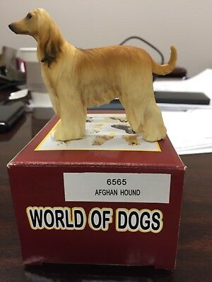 "Afghan Hound Figurine - 3.25"" Height - Hand Painted - Resin - New in Box"