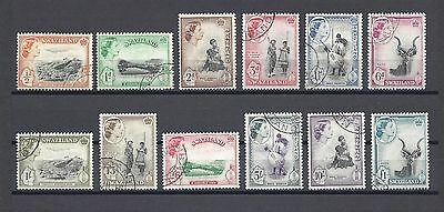 SWAZILAND 1956 SG 53/64 USED Cat £80