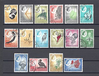 SWAZILAND 1962-66 SG 90/105 USED Cat £30
