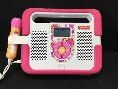 Fisher Price Kid Tough MP3 Music Player - PINK - NO MICROPHONE~