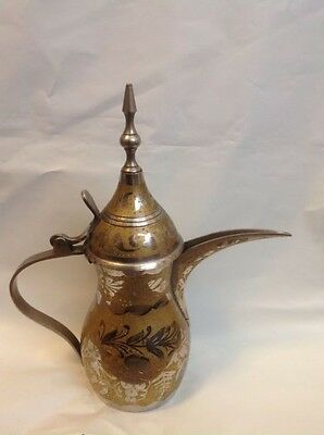 Antique Vintage Coffee Pot Copper Brass Dallah Arabic Islamic Middle Eastern