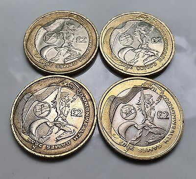 2002 Commonwealth Games Rare £2 Two Pound Coin Set Including Northern Ireland