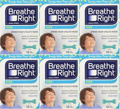 72 BREATHE RIGHT Nasal Strips for Kids Children Child Size Nose Band Breath Rite