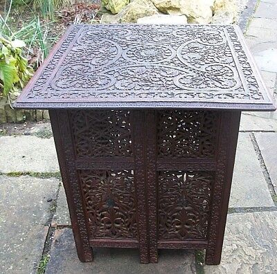 Extra Large  Antique  Folding  Rosewood  Anglo/ Indian   Side Table