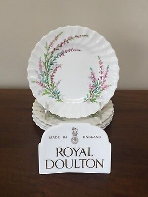 Royal Doulton BELL HEATHER SCALLOPED Bread & Butter Plate~ Set of 5