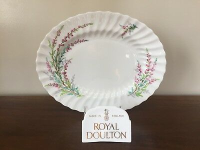 "Royal Doulton BELL HEATHER SCALLOPED 12"" Oval Serving Platter"