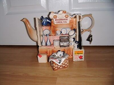 Paul Cardew Novelty Large China Stall Teapot & Sugar ~ Excellent Condition