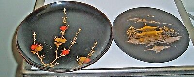 2 X Vintage Chinese One Metal Engraved The Other Painted