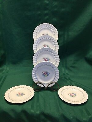 6 Royal Doulton China The Chelsea Rose Bread and Butter Plates H4801