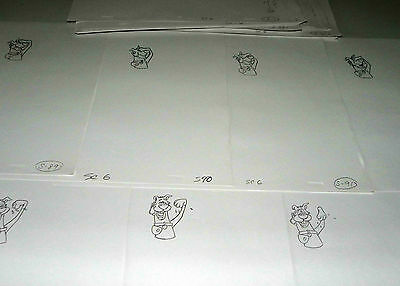 Scooby Doo Operator Lot Of 99 Pages Original Drawings Animation Hanna-Barbera