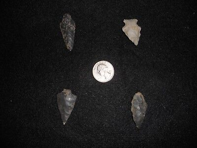 Authentic Indian Arrowheads - Archaic - 4 points from SW Virginia (Lot 3)