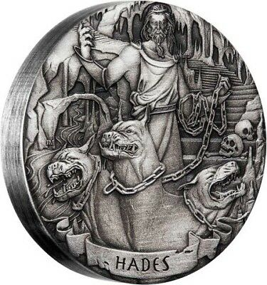 2017 Gods Of Olympus Hades 2oz Silver Antiqued Coin
