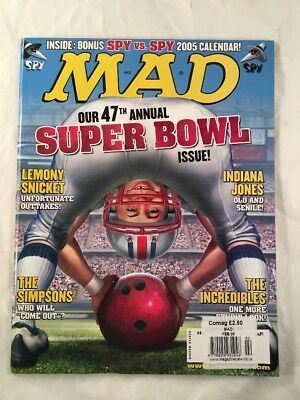 Mad Magazine # 450 February 2005 Super Bowl Football Cover Alfred E Neuman
