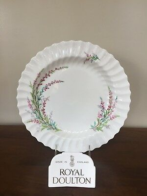 "Royal Doulton BELL HEATHER SCALLOPED 12"" Chop Plate Round Platter"