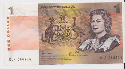 Australia $1 banknote Johnston Stone DLF almost uncirculated