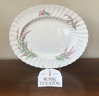 "Royal Doulton BELL HEATHER SCALLOPED 17"" Oval Serving Platter (B)"